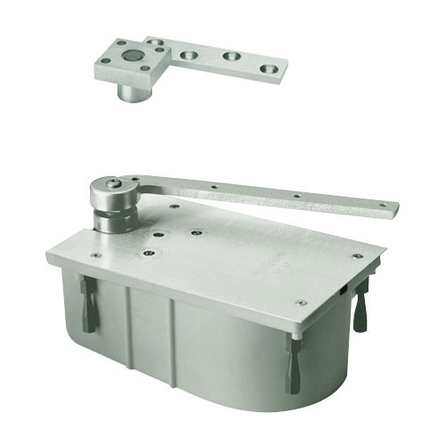 "427-105S-LH-619 Rixson 427 Series Heavy Duty 3/4"" Offset Hung Floor Closer in Satin Nickel Finish"