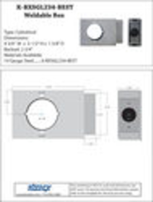 Keedex K-BXSGL234-BEST - Best Lock Weldable Gate Box