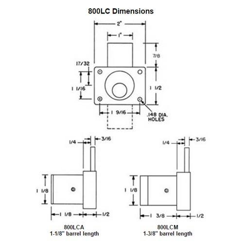 Olympus 722S-TBM-26D Cabinet IC Core Sliding Door Push Lock with