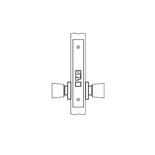 AM01-HTHA-03 Arrow Mortise Lock AM Series Passage Knob Trim with HTHA Design in Bright Brass