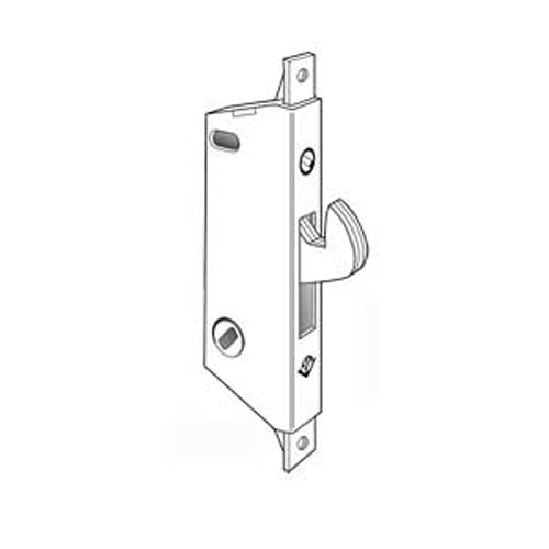 MS1847-630 Adams Rite MS Deadlock Square Faceplate for Ultra-Narrow Stile Sliding Doors in Satin Stainless