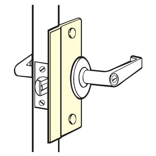 SLP-106-630 Don Jo Latch Protector in Stainless Steel Finish