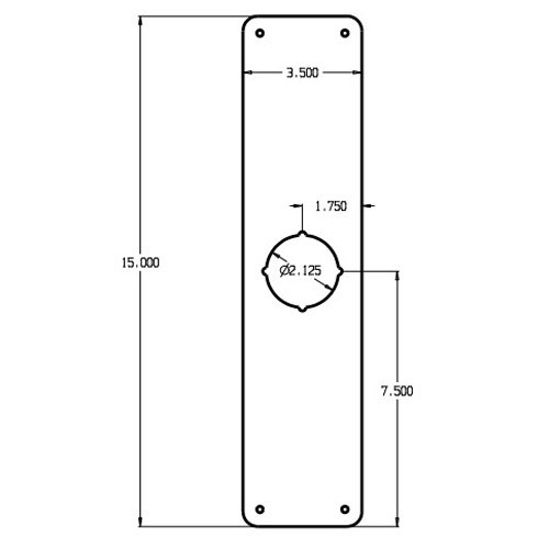 RP-13515-605 Don Jo Remodeler Plate Dimensional View
