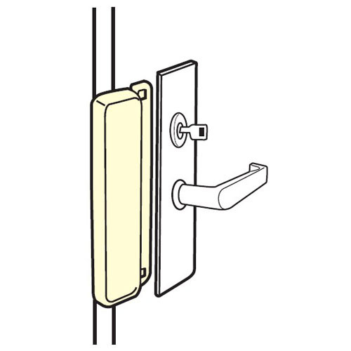 MELP-210-SL Don Jo Latch Protector for Electric Strikes in Silver Coated Finish
