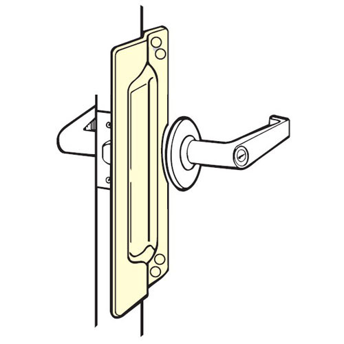 LP-111-630 Don Jo Latch Protector in Satin Stainless Steel Finish