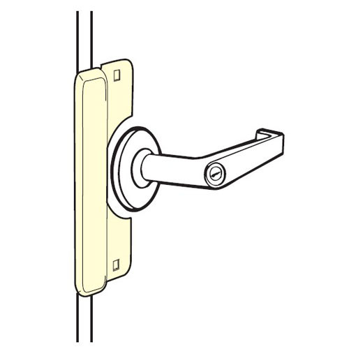 LELP-208-SL Don Jo Latch Protector for Electric Strikes in Silver Coated Finish