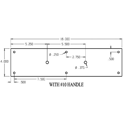 """7110-605 Don Jo Pull Plates with Cast Pull and 5-1/2"""" center to center length"""
