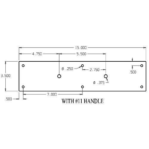 """7011-630 Don Jo Pull Plates with 3/4"""" Round Pulls and 5-1/2"""" center to center length"""