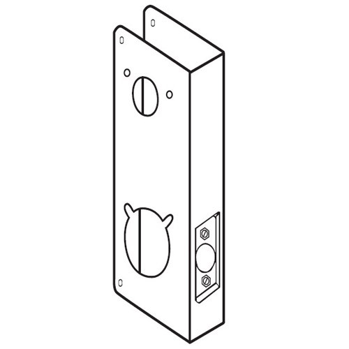 4000-4-AB-CW Don Jo Wrap-Around Plate for Kaba/Simplex 4000 Series