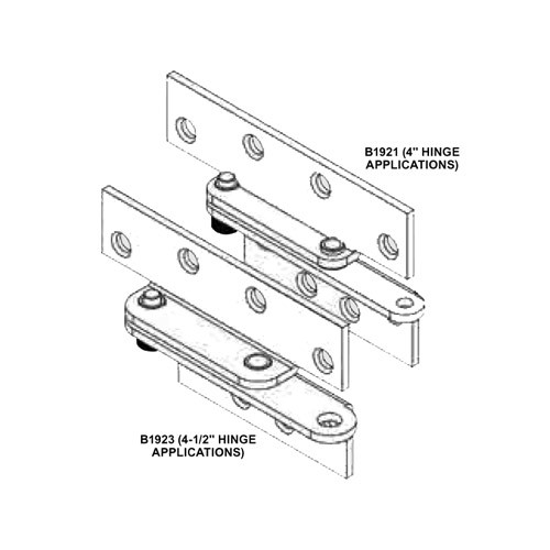 B1921-US2G Adams Rite Reinforcing Pivots in Zinc Plated