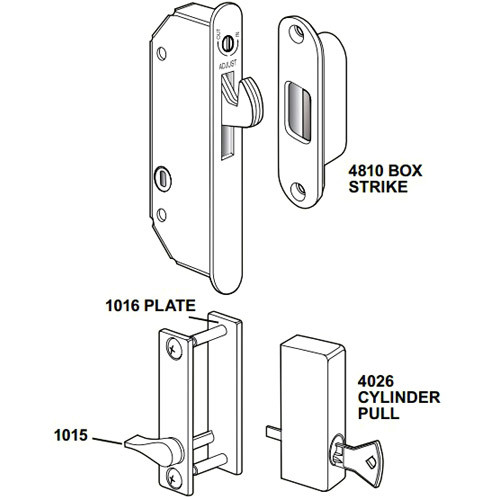 5017-02 Adams Rite Wood Door Deadlock/Deadlatch