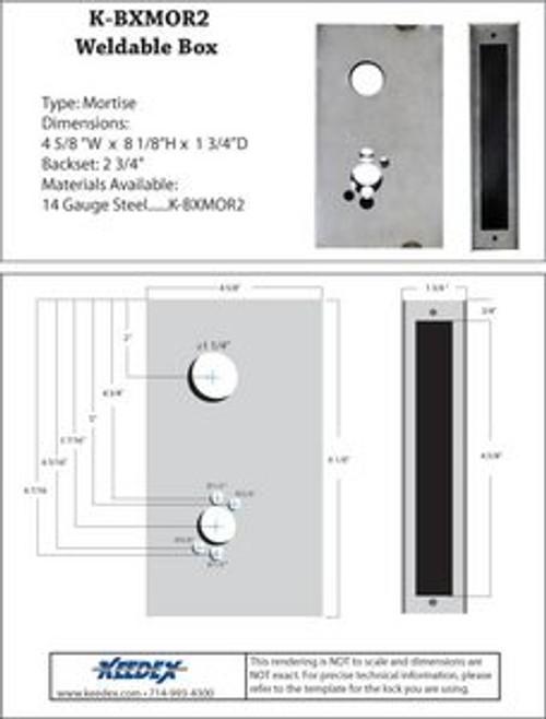 Keedex K-BXMOR2 Gate Box for Corbin and Stanley