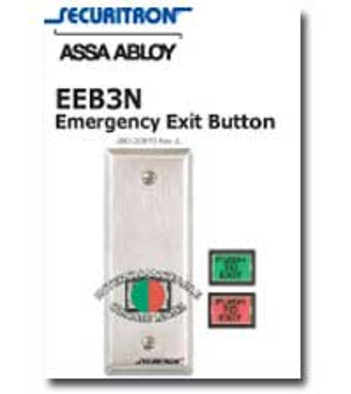 EEB3N Securitron Emergency Exit Button WITH GREEN OR RED