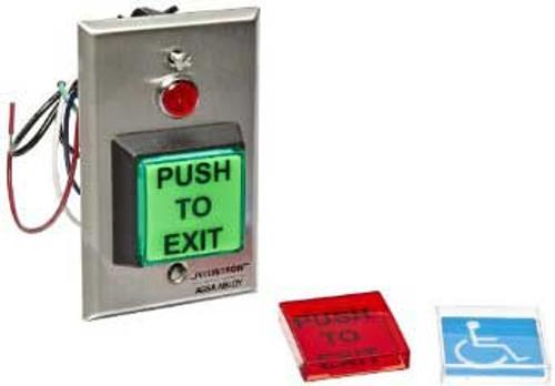 PB22 Securitron Push to Exit Illuminated Double Pole