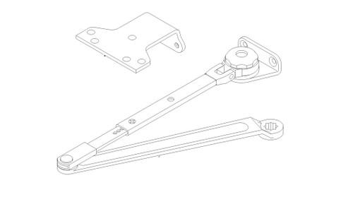 LCN Door Hardware 1461-Hw-PA-US26D