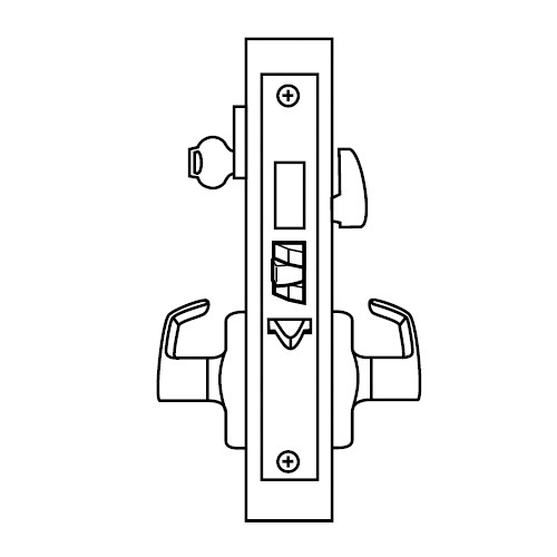 ML2075-LWA-605 Corbin Russwin ML2000 Series Mortise Entrance or Office Security Locksets with Lustra Lever and Deadbolt in Bright Brass