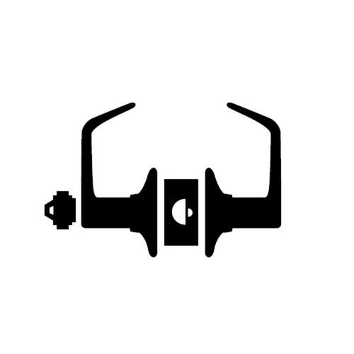 AL80BD-JUP-619 Schlage AL Series - Jupiter Style Lock with Storeroom Function Prepped for SFIC in Satin Nickel