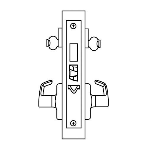 ML2072-LWB-619-LC Corbin Russwin ML2000 Series Mortise Classroom Intruder Locksets with Lustra Lever with Deadbolt in Satin Nickel