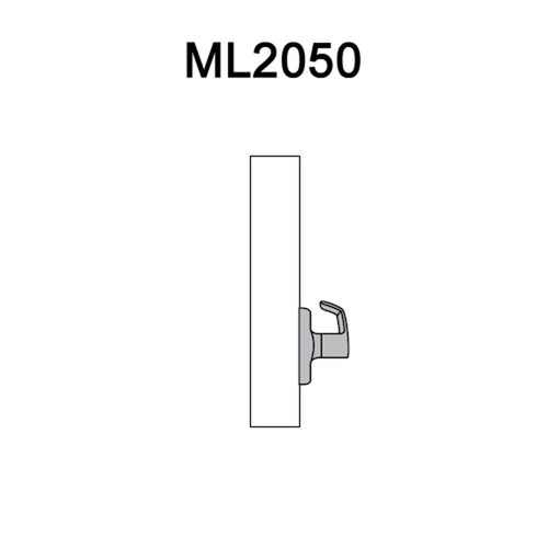 ML2050-LSA-629 Corbin Russwin ML2000 Series Mortise Half Dummy Locksets with Lustra Lever in Bright Stainless Steel
