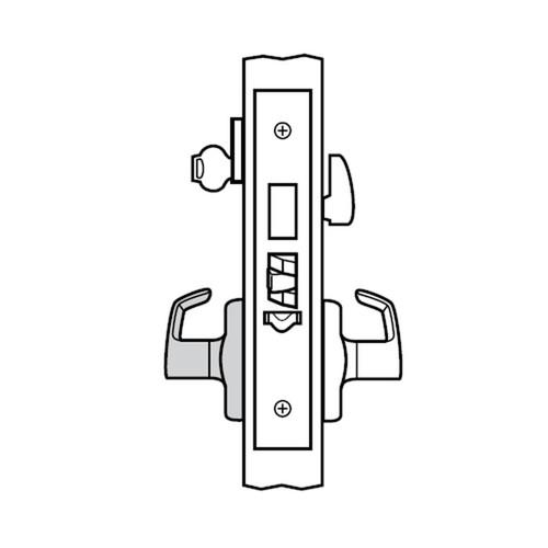 ML2029-CSA-605 Corbin Russwin ML2000 Series Mortise Hotel Locksets with Citation Lever and Deadbolt in Bright Brass