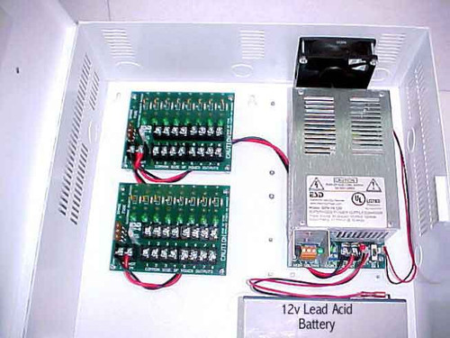 AQU128-8C8R Securitron AccuPower Switching Power Supply Circuit