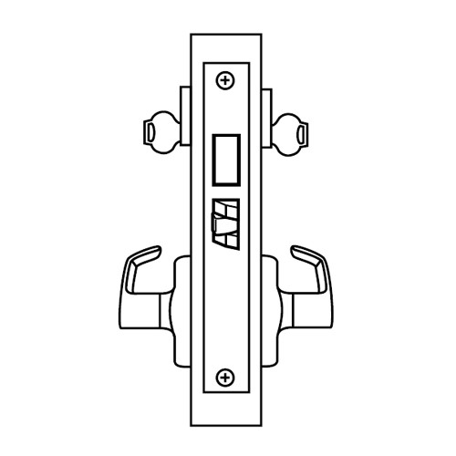 ML2062-CSM-625-CL7 Corbin Russwin ML2000 Series IC 7-Pin Less Core Mortise Intruder Locksets with Citation Lever with Deadbolt in Bright Chrome