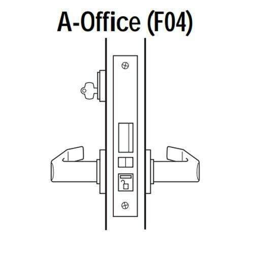 45H7A14N605 Best 40H Series Office Heavy Duty Mortise Lever Lock with Curved with Return Style in Bright Brass