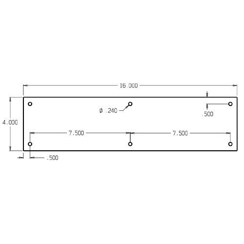 "71-609 Don Jo 0.50 Push Plate in 4 X 16"""