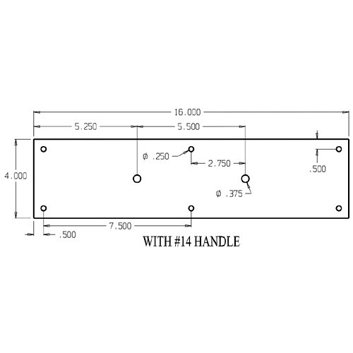 """7114-606 Don Jo Pull Plates with 3/4"""" Round Pulls and 5-1/2"""" center to center length"""