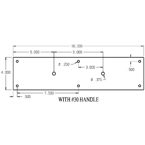 """7130-628 Don Jo Pull Plates with Flat Pulls and 6"""" center to center length"""