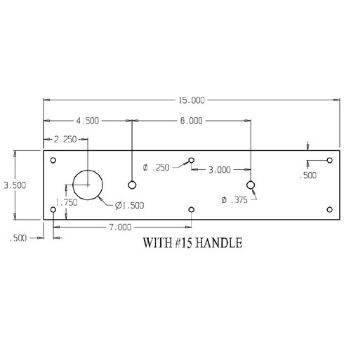 """CFD7015-630 Don Jo Pull Plates with Holes and 6"""" Center to Center Length"""