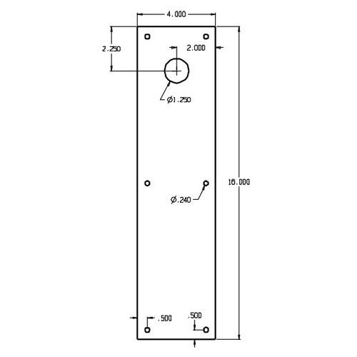 CFC71-606 Don Jo Push Plates with Holes