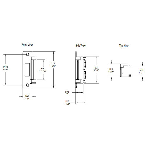 4500C-629-LBSM Hes Electric Strike