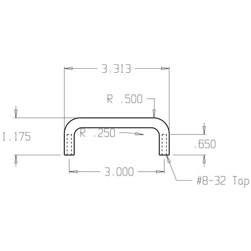"""62-625 Don Jo Wire Pull with 3"""" center to center length"""