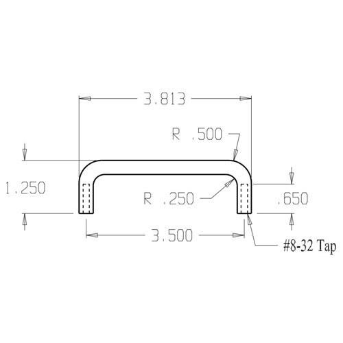 """64-625 Don Jo Wire Pull with 3 1/2"""" center to center length"""