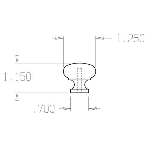 """54-605 Don Jo 1-1/4"""" (inches) Cabinet Knob"""