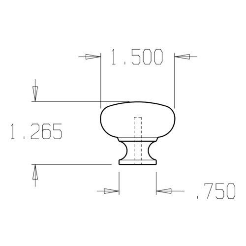 """56-605 Don Jo 1 1/2"""" (inches) Cabinet Knob"""