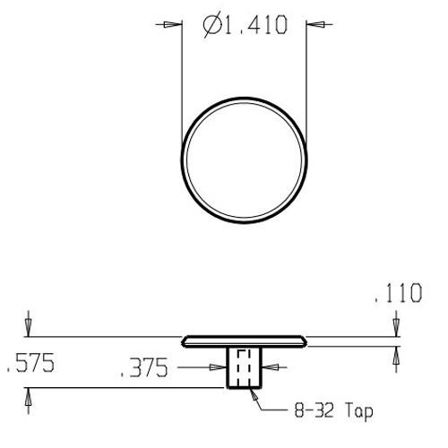 """120-605 Don Jo 1 1/2"""" (inches) Cabinet Knob"""