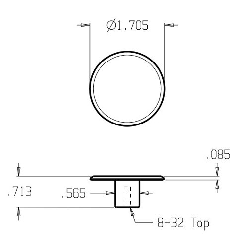 """121-605 Don Jo 1 3/4"""" (inches) Cabinet Knob"""