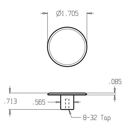 """121-620 Don Jo 1 3/4"""" (inches) Cabinet Knob"""