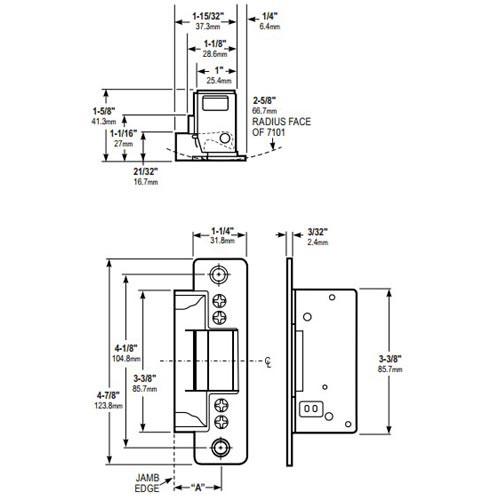 7100-547-313 Adams Rite Electric Strike