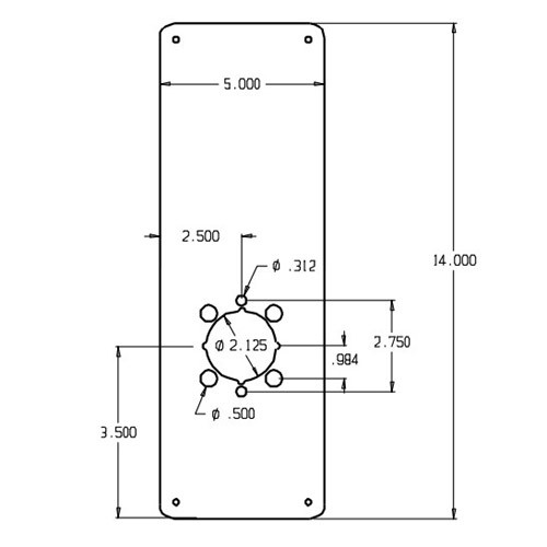 RP-14-2-605 Don Jo Remodeler Plate Dimensional View