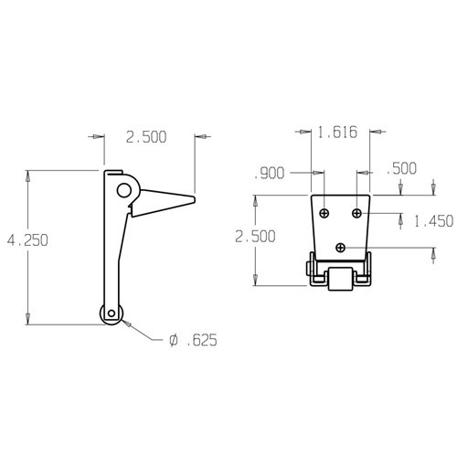 2060-622 Don Jo Carry Bar Dimensional View
