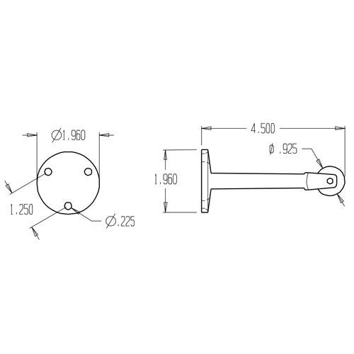 1486-613 Don Jo Roller Bumper Dimensional View