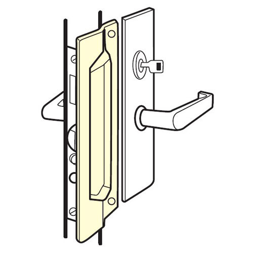 MLP-111-EBF-630 Don Jo Latch Protector in Stainless Steel Finish