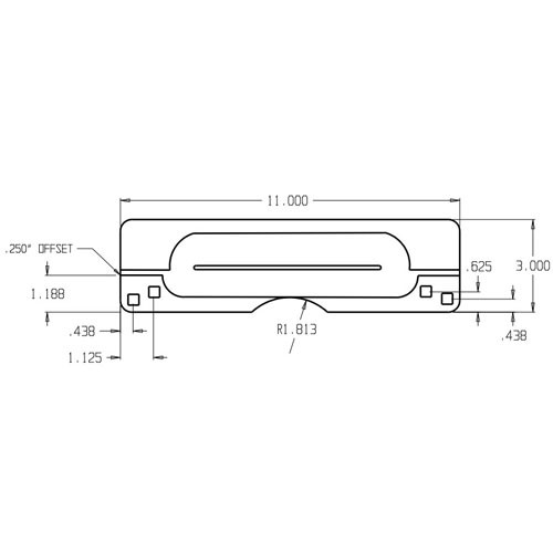 9211-PC Don Jo Latch Protector Dimensional View
