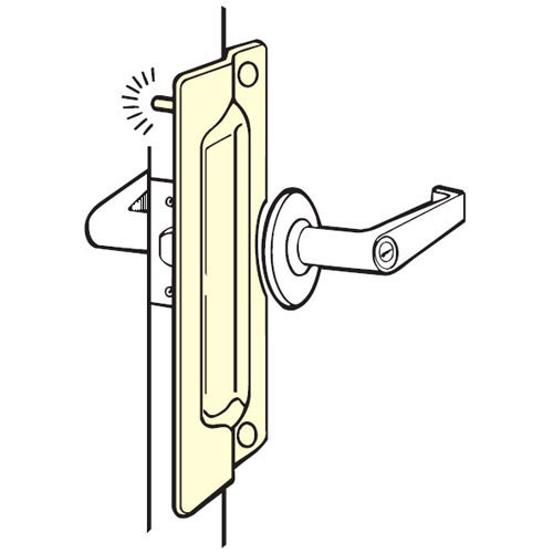 PLP-211-CP Don Jo Latch Protector in Chrome Plated Finish