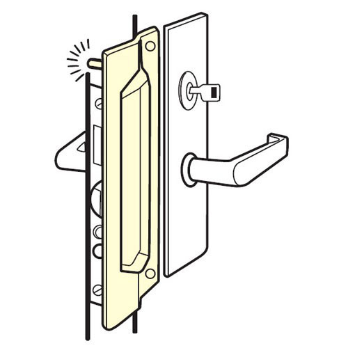 PMLP-111-EBF-630 Don Jo Latch Protector in Stainless Steel Finish