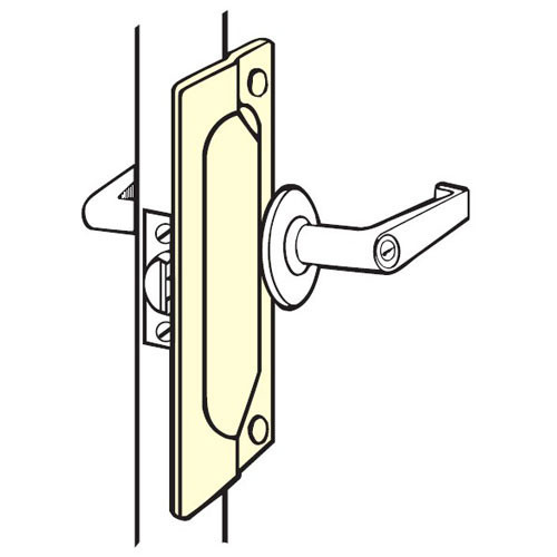 LP-107-EBF-630 Don Jo Latch Protector in Stainless Steel Finish