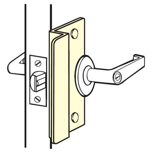 OSLP-210-SL Don Jo Latch Protector in Silver Coated Finish